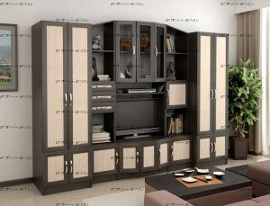 Стенка Макарена МДФ + 2 шкафа (290х50/35х205)