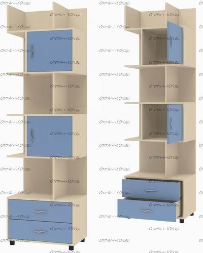 Шкаф-стеллаж Дельта-5.02 (64х43х216)