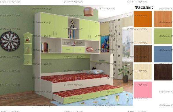 Кровать с антресолью Дельта 21.03 (80Х190)