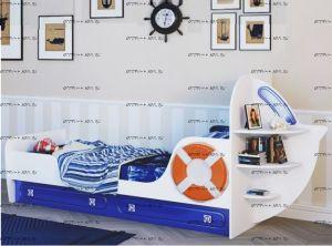 Кровать Яхта-1 МДФ