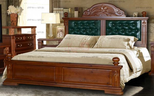 Кровать Винцент с мягкой спинкой