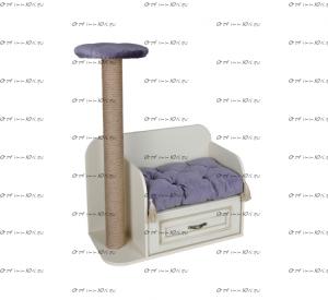 Диван для кошек с когтеточкой Ферсия, мод. 38 МДФ