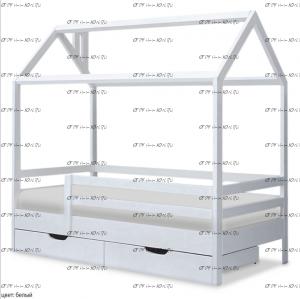 Кровать-домик Ненси (ВМК Шале)