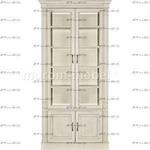 Шкаф-витрина 2-дверный Флоренция-3