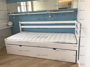 Кровать двухъярусная Дуэт 1 выкатная (с низкой второй спинкой)